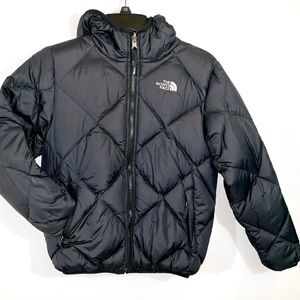 North Face sz YL reversible hooded puffer coat